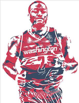 Free Mixed Media - John Wall Washington Wizards Pixel Art 18 by Joe Hamilton