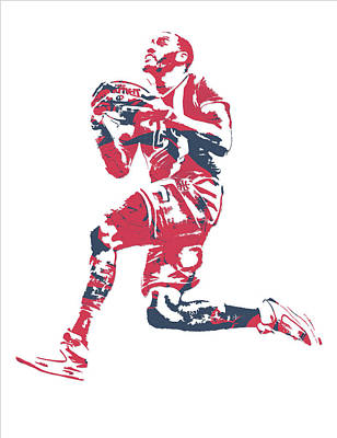 Mixed Media - John Wall Washington Wizards Pixel Art 20 by Joe Hamilton