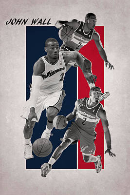 John Wall Wizards Art Print