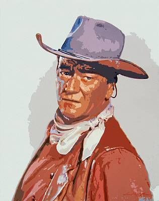 Wayne Painting - John Wayne - The Duke by David Lloyd Glover