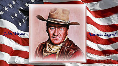 Painting - John Wayne American Legend by Andrew Read
