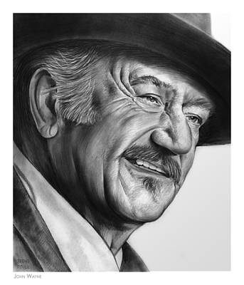 John Wayne Drawing - John Wayne by Greg Joens