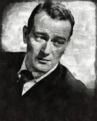 Recently Sold - Portraits Royalty-Free and Rights-Managed Images - John Wayne Hollywood Actor by Esoterica Art Agency