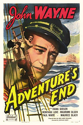Old Hollywood Mixed Media - John Wayne In Adventure's End 1936 by Mountain Dreams