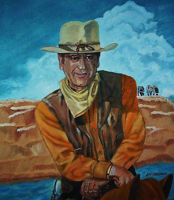 John Wayne Art Print by Jeff Orebaugh