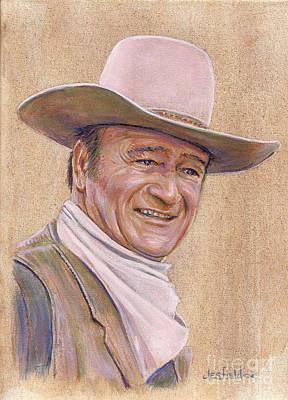 Painting - John Wayne by LeRoy Jesfield