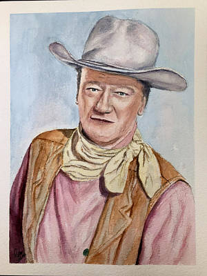 Painting - John Wayne by Richard Benson