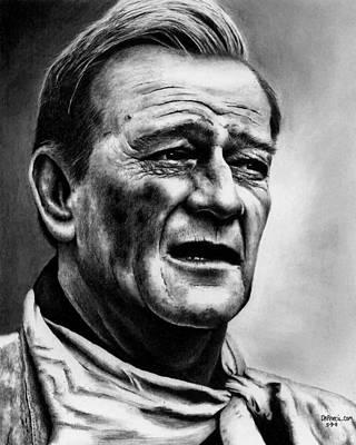 Drawing - John Wayne  by Rick Fortson