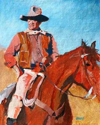 John Wayne Art Print by Robert Bissett