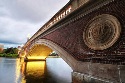 Harvard Wall Art - Photograph - John Weeks Bridge Charles River Harvard Square Cambridge Ma by Toby McGuire