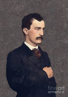 Politicians Paintings - John Wilkes Booth, History Portraits by Mary Bassett