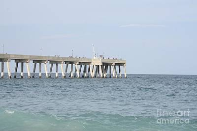 Photograph - Johnnie Mercer Pier Wrightsville North Carolina by John Telfer