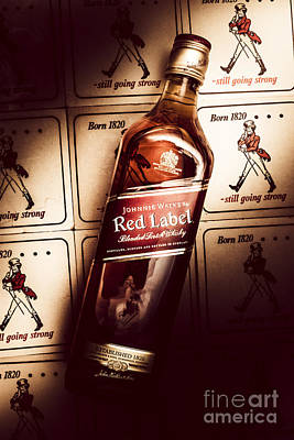Johnnie Walker Red Label Blended Whisky  Art Print by Jorgo Photography - Wall Art Gallery