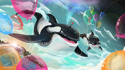 Painting - Johnny And The Killer Whales by Jamie Price