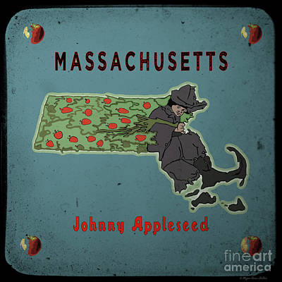 Digital Art - Johnny Appleseed by Megan Dirsa-DuBois