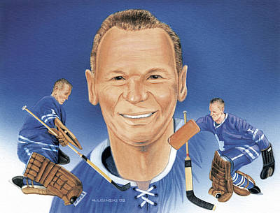 Painting - Johnny Bower No. 2 by Norb Lisinski