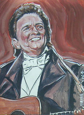 Painting - Johnny Cash by Bryan Bustard