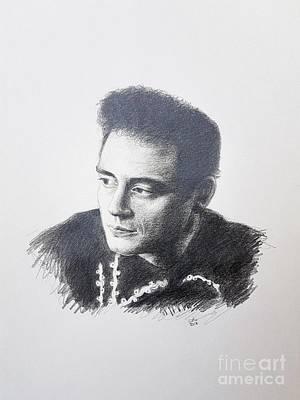 Johnny Cash Drawing - Johnny Cash by Carina Povarchik