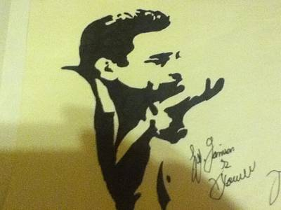 Johnny Cash Drawing - Johnny Cash by Damian Howell