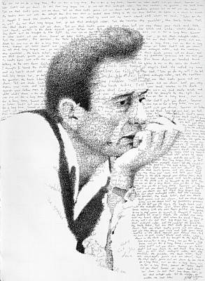 Johnny Cash Drawing - Johnny Cash God's Gonna Cut You Down by Phil Vance