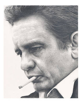 Johnny Cash Drawing - Johnny Cash by Heather Andrewski