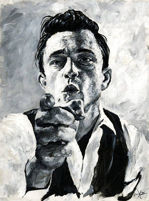 Johnny Cash Painting - Johnny Cash II by Christian Klute
