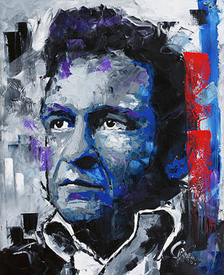 Painting - Johnny Cash II by Richard Day