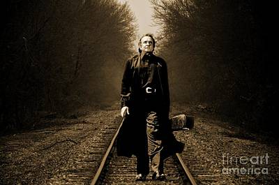 Music Paintings - Johnny Cash by John Malone