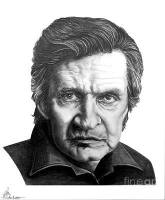Johnny Cash Drawing - Johnny Cash by Murphy Elliott