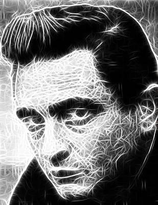 Johnny Cash Print by Paul Van Scott