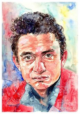 Johnny Cash Portrait Original