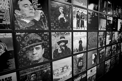 Johnny Cash Records At Johnny Cash Museum Art Print by Dan Sproul