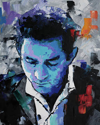 Painting - Johnny Cash by Richard Day