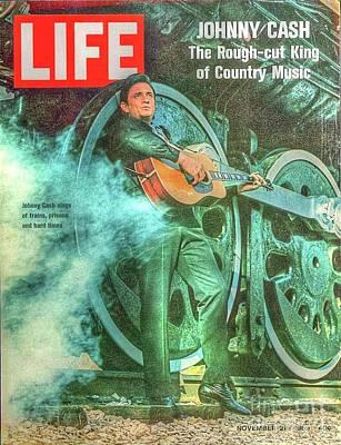 Photograph - Johnny Cash by Steven Parker