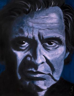 Johnny Cash Art Print by Tabetha Landt-Hastings