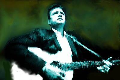 Johnny Cash Watercolor  Original