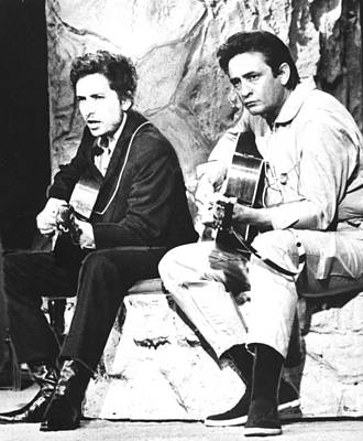 Johnny Cash, With Bob Dylan, C. 1969 Print by Everett