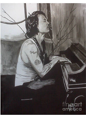 Art Print featuring the painting Johnny Depp 1 by Justin Moore