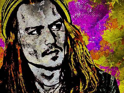 Johnny Depp Mixed Media - Johnny Depp-2 by Otis Porritt