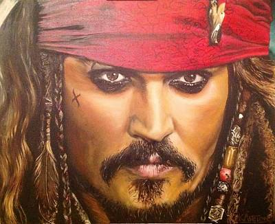 Pirates Of The Caribbean Painting - Johnny Depp As Jack Sparrow by Kay Ashton