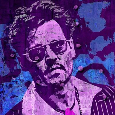 Johnny Depp Mixed Media - Johnny Depp B by Otis Porritt