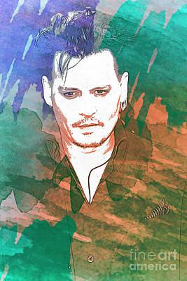 Johnny Depp Mixed Media - Johnny Depp by Nina Prommer