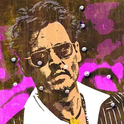 Johnny Depp Mixed Media - Johnny Depp C by Otis Porritt