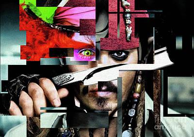 Johnny Depp Photograph - Johnny Depp - Collage  by Prar Kulasekara