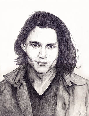 Johnny Depp Art Print by Debbie McIntyre