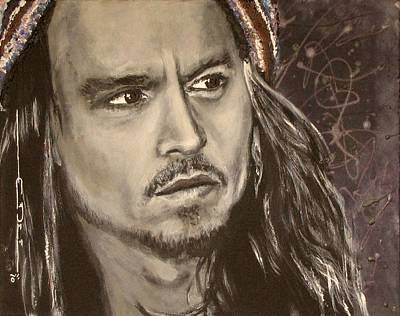 Johnny Depp Drawing - Johnny Depp by Eric Dee