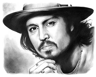 Johnny Depp Drawing - Johnny Depp by Greg Joens