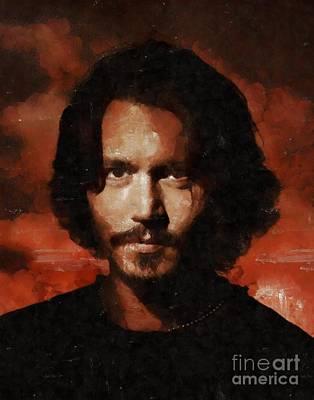 Johnny Depp Painting - Johnny Depp, Hollywood Legend By Mary Bassett by Mary Bassett