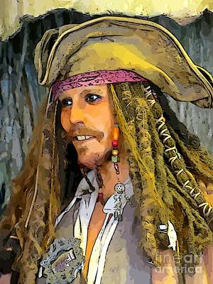 Pirates Of The Caribbean Painting - Johnny Depp by John Malone