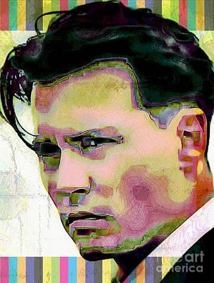 Digital Art - Johnny Depp - Pop Art by Ian Gledhill